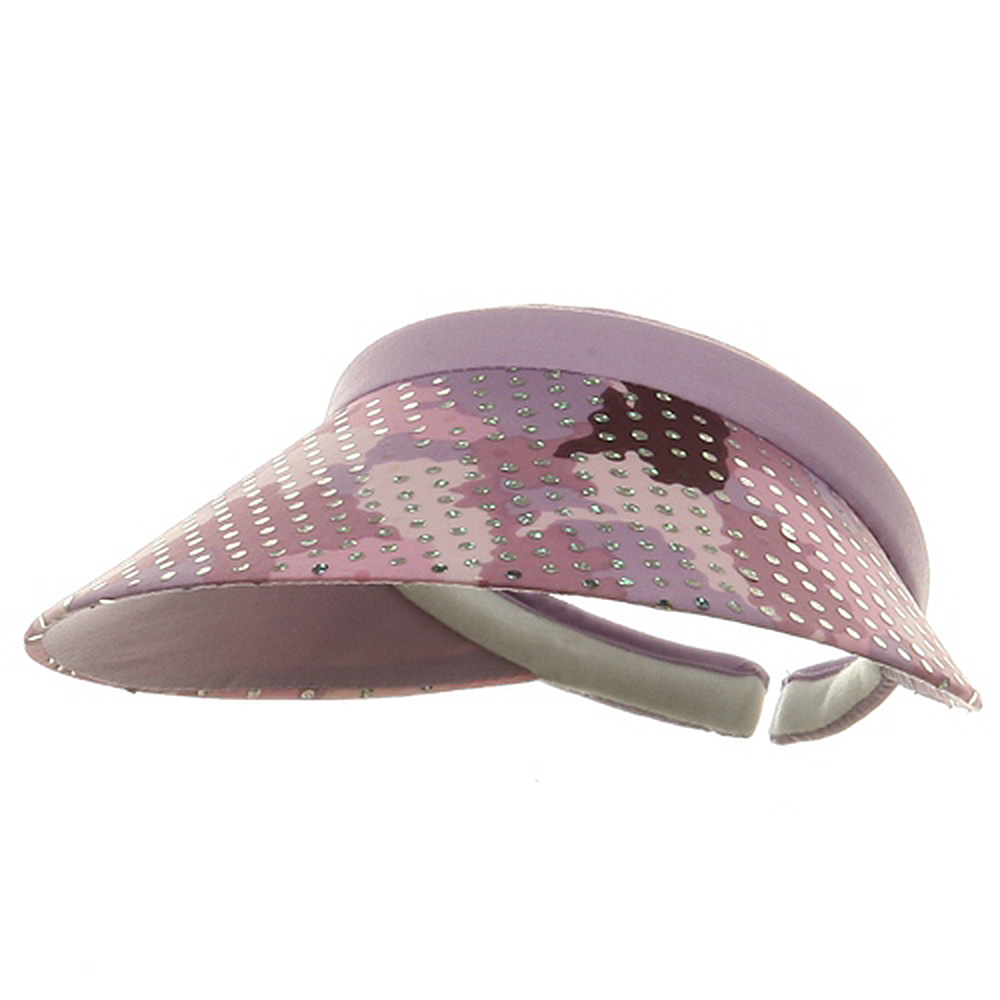 Fancy Clip On Visor - Purple - Hats and Caps Online Shop - Hip Head Gear