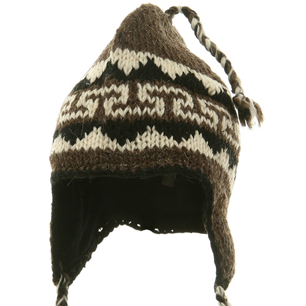 Jacquard Knitting Beanie(02) - Light Brown Beige - Hats and Caps Online Shop - Hip Head Gear