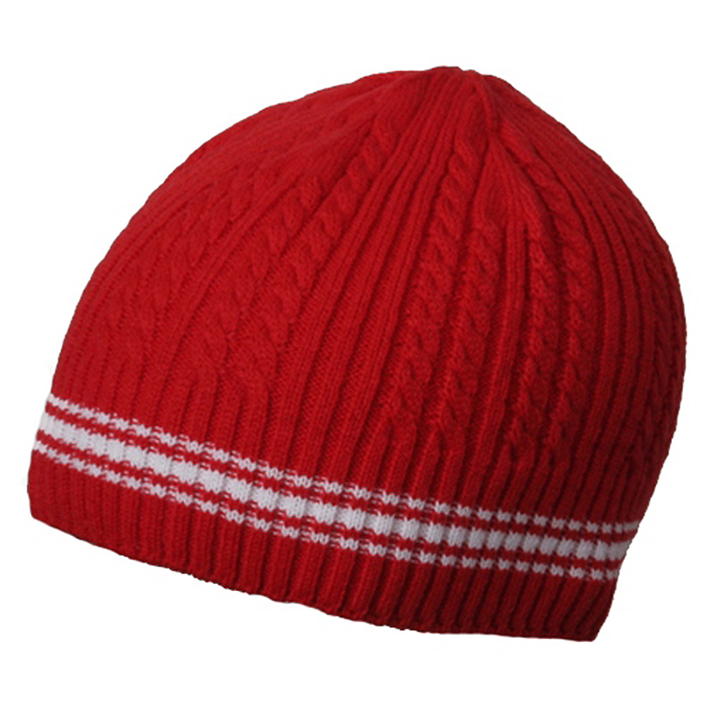 New Cable Beanie-Red - Hats and Caps Online Shop - Hip Head Gear