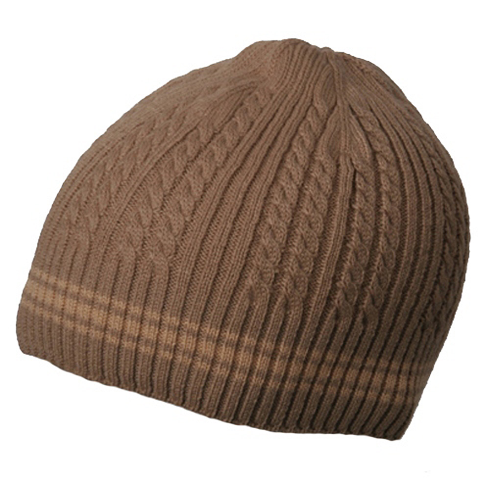 New Cable Beanie-Khaki - Hats and Caps Online Shop - Hip Head Gear