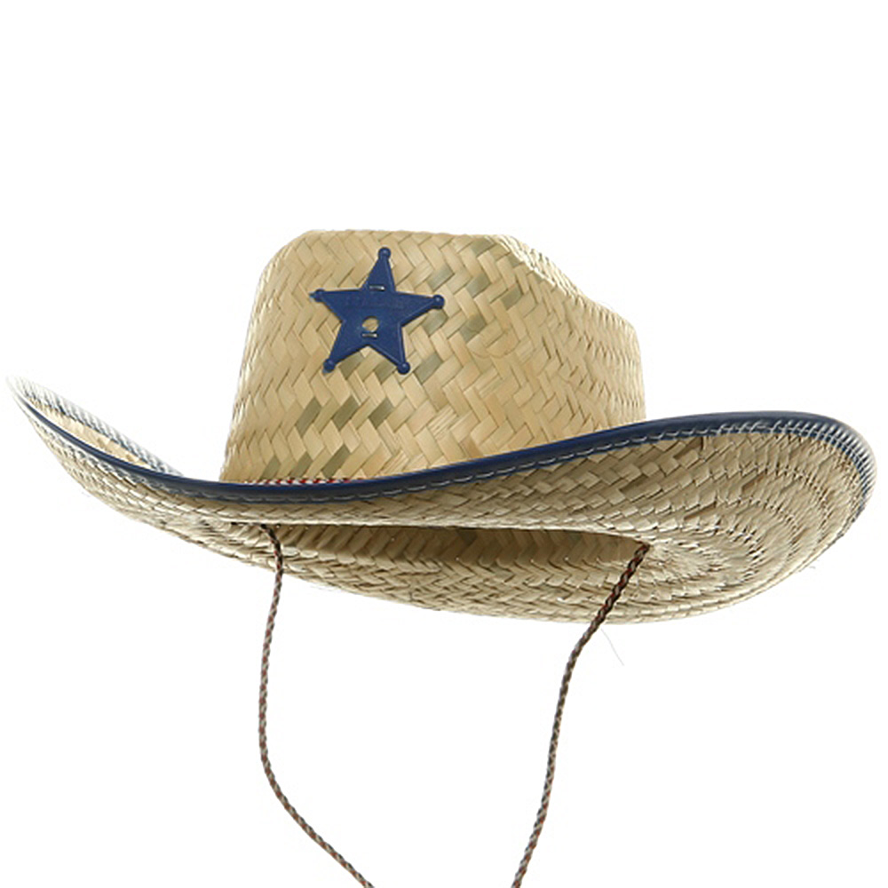 Natural Straw Sheriff Hat-Royal - Hats and Caps Online Shop - Hip Head Gear