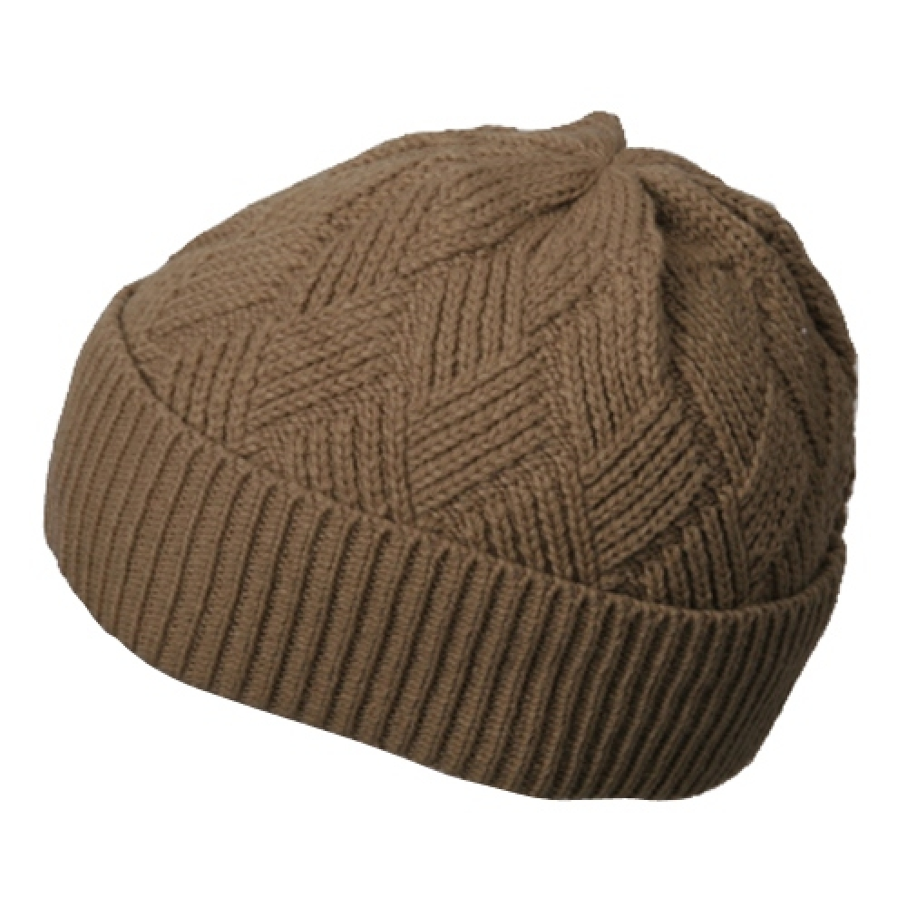 Acrylic Short Beanie-Khaki - Hats and Caps Online Shop - Hip Head Gear