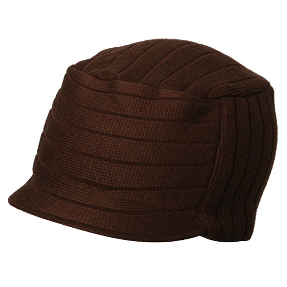 Disel Beanie Visor-Brown - Hats and Caps Online Shop - Hip Head Gear