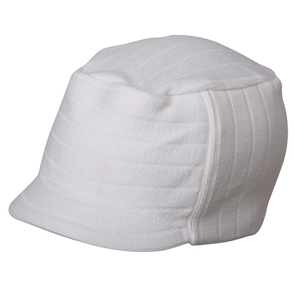 Disel Beanie Visor-White - Hats and Caps Online Shop - Hip Head Gear