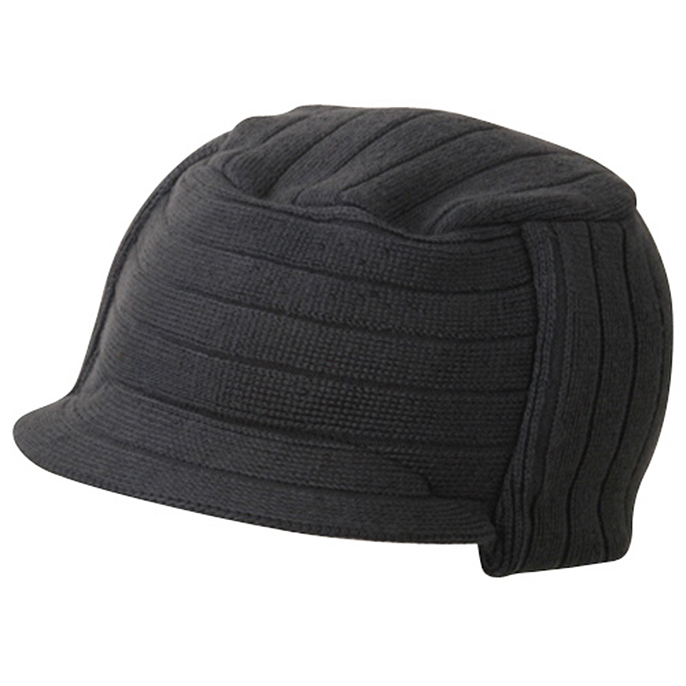 Disel Beanie Visor-Dark Grey - Hats and Caps Online Shop - Hip Head Gear