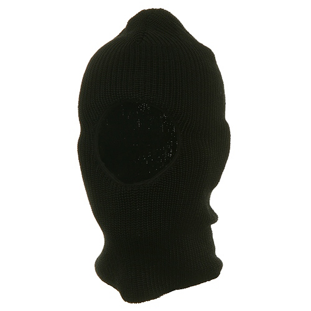 One Hole Rib Face Mask - Black - Hats and Caps Online Shop - Hip Head Gear