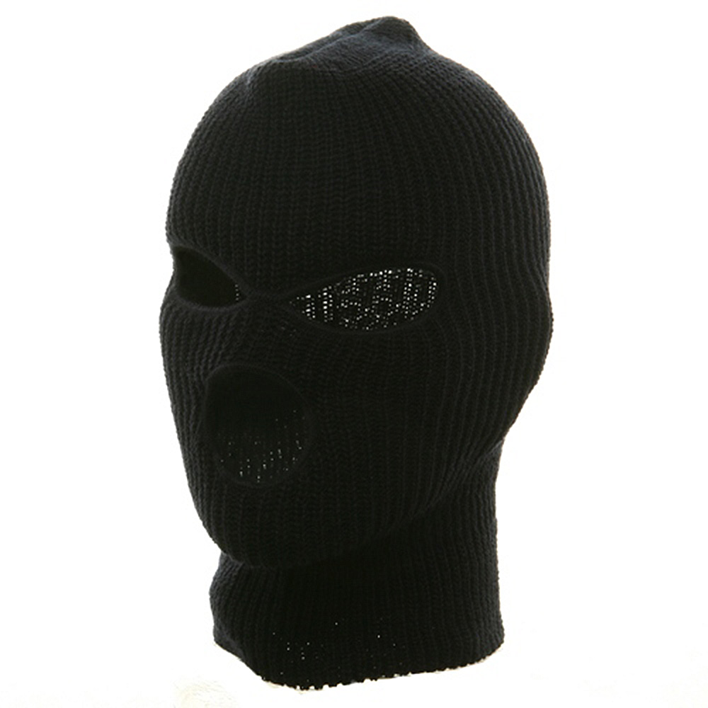 Ski Mask with Three Holes  - Navy - Hats and Caps Online Shop - Hip Head Gear