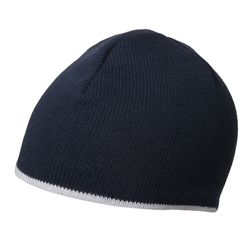 Two Tone Cotton Beanies-Navy White - Hats and Caps Online Shop - Hip Head Gear