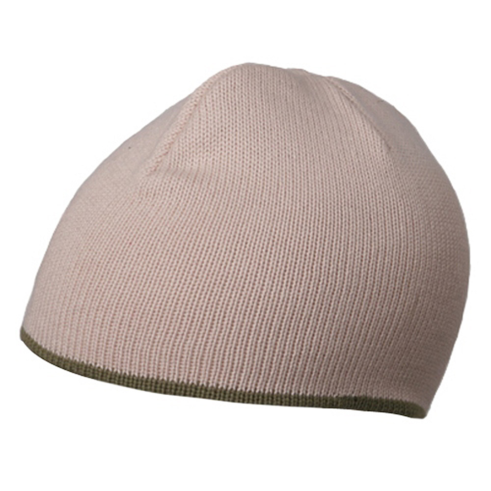 Two Tone cotton Beanie-Natural Olive - Hats and Caps Online Shop - Hip Head Gear