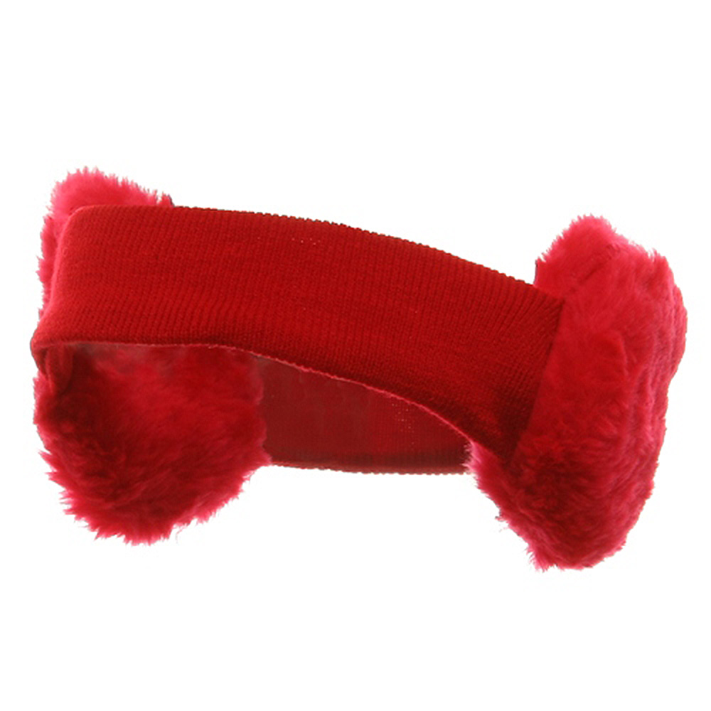 Ear Muff Headband-Red - Hats and Caps Online Shop - Hip Head Gear