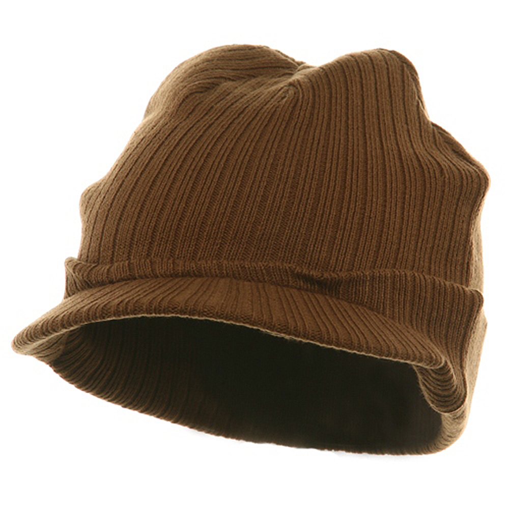 Knit with Visor - Brown - Hats and Caps Online Shop - Hip Head Gear