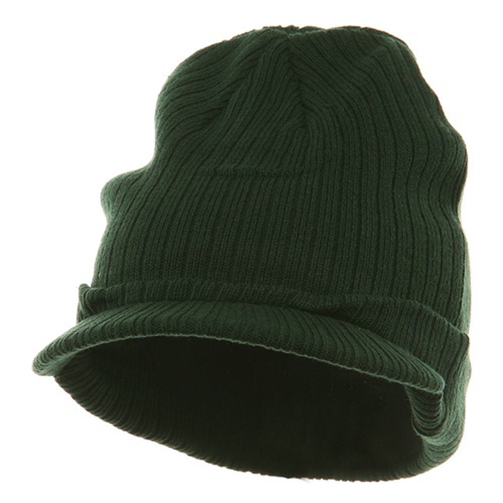 Knit with Visor - Dark Green - Hats and Caps Online Shop - Hip Head Gear