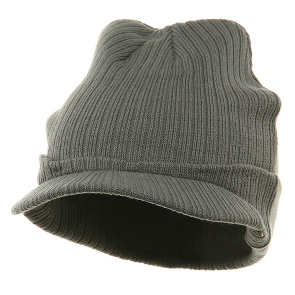 Knit with Visor - Grey - Hats and Caps Online Shop - Hip Head Gear