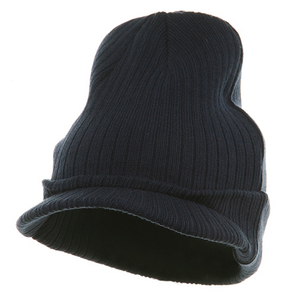 Knit with Visor - Navy - Hats and Caps Online Shop - Hip Head Gear