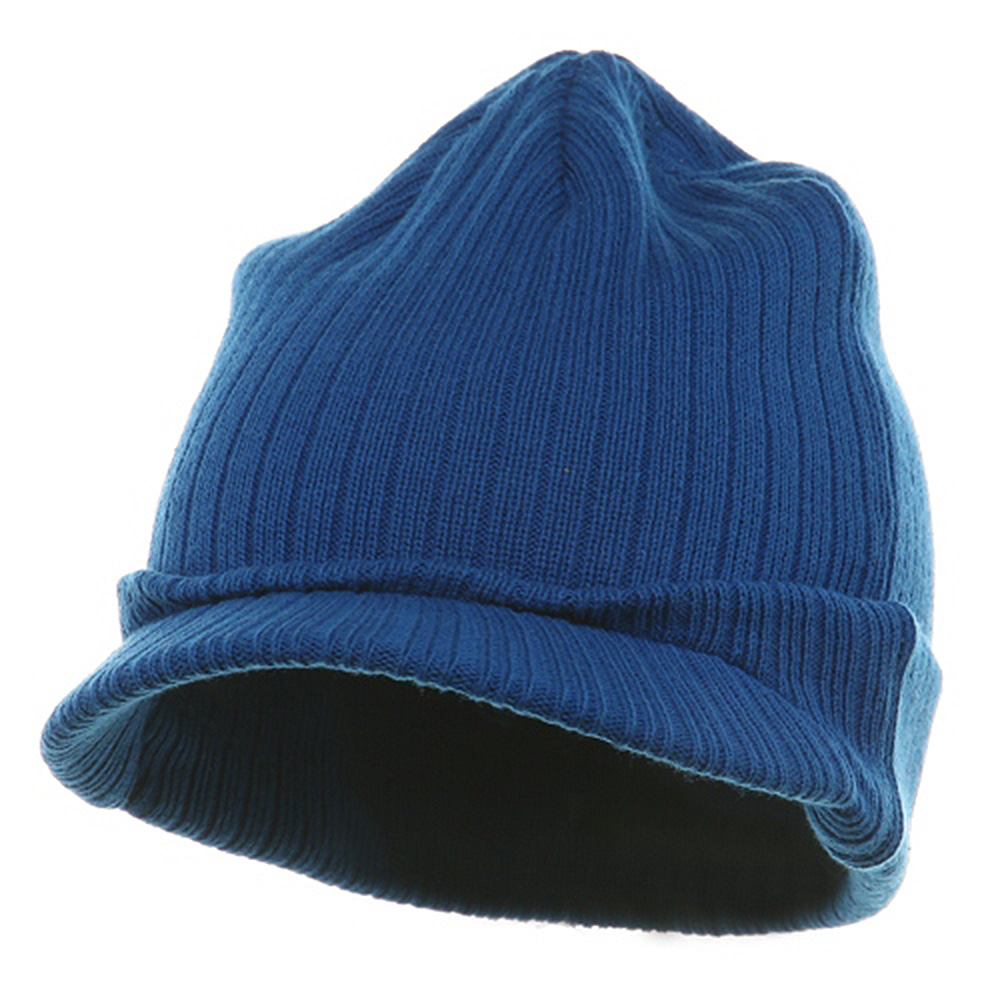 Knit with Visor - Royal - Hats and Caps Online Shop - Hip Head Gear
