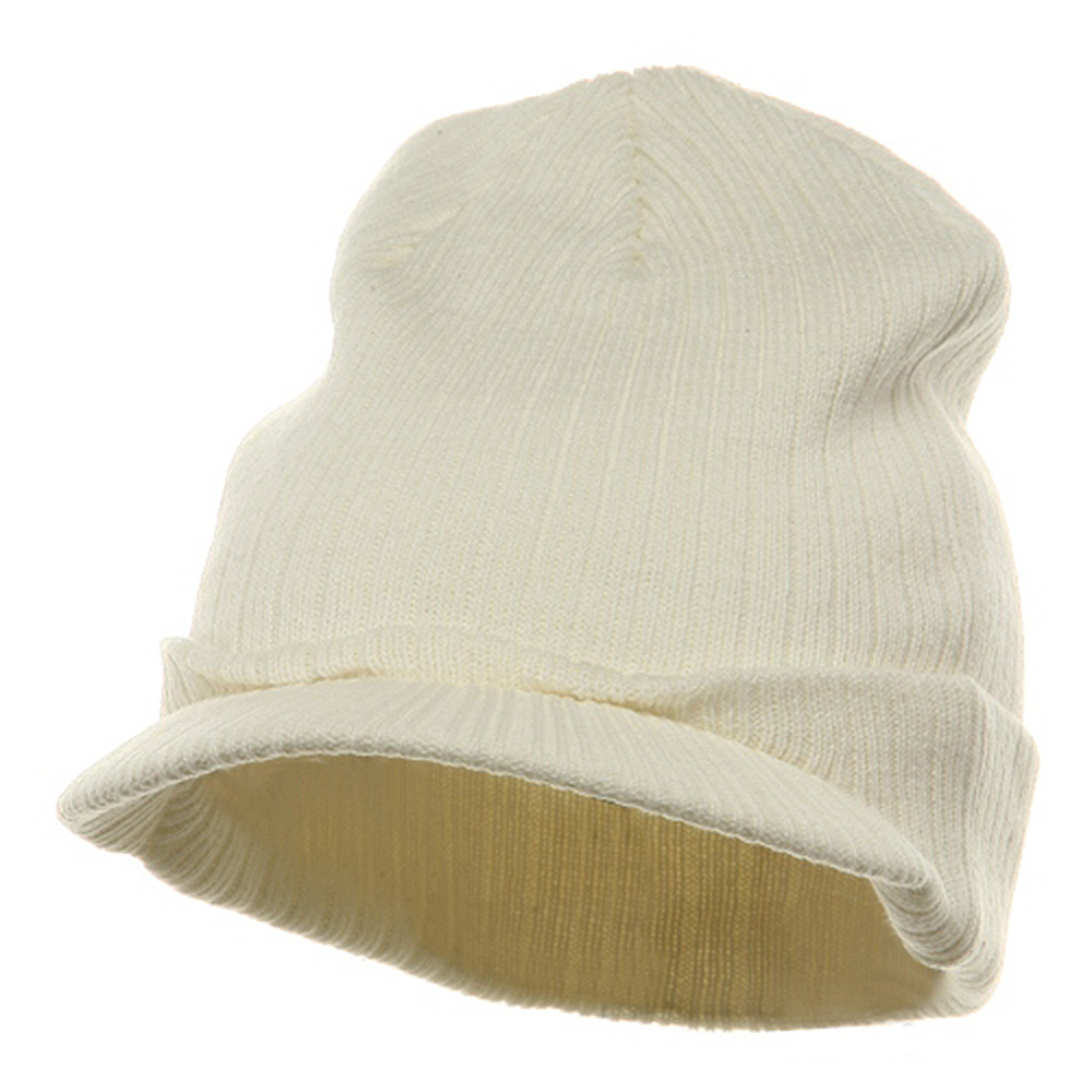 Knit with Visor - White - Hats and Caps Online Shop - Hip Head Gear