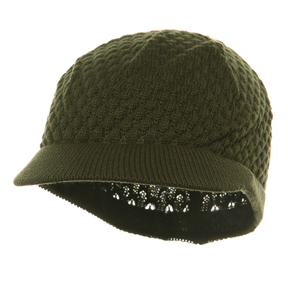 Rasta Plain Beanies Visors (05)-Olive - Hats and Caps Online Shop - Hip Head Gear