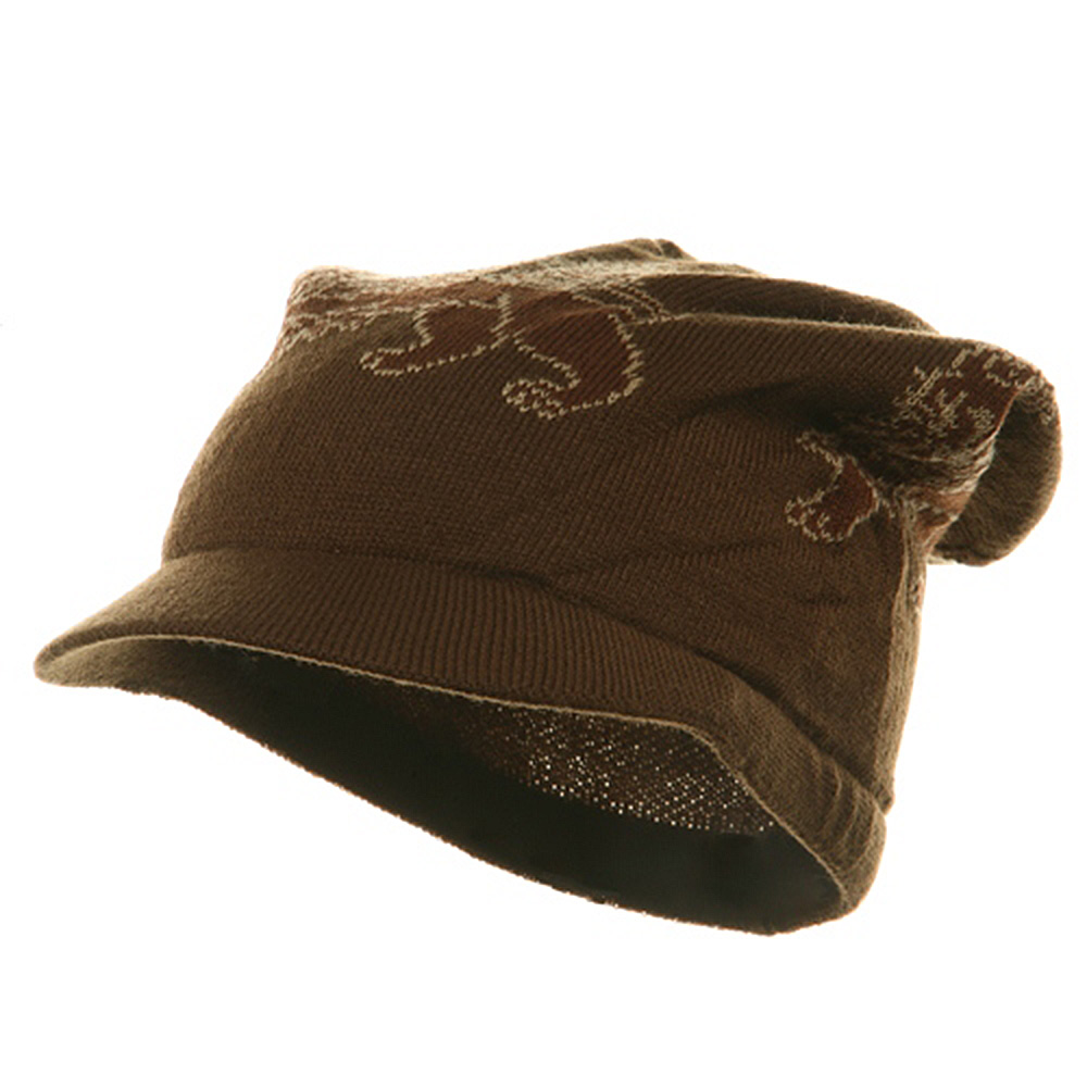 Regular Lion Rasta Beanie Visor Hat-Brown - Hats and Caps Online Shop - Hip Head Gear