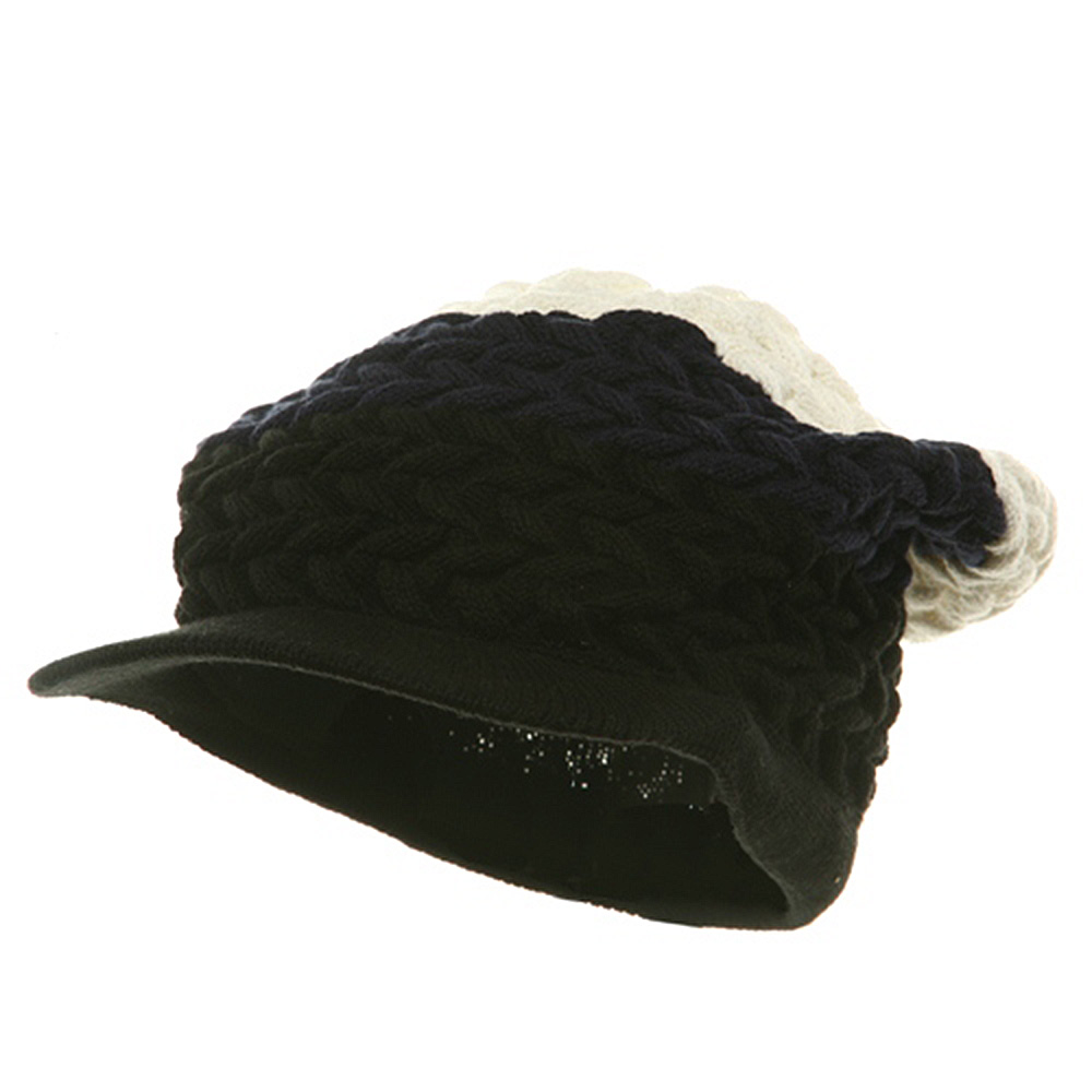 Wave Rasta Beanies Visor-Navy White - Hats and Caps Online Shop - Hip Head Gear