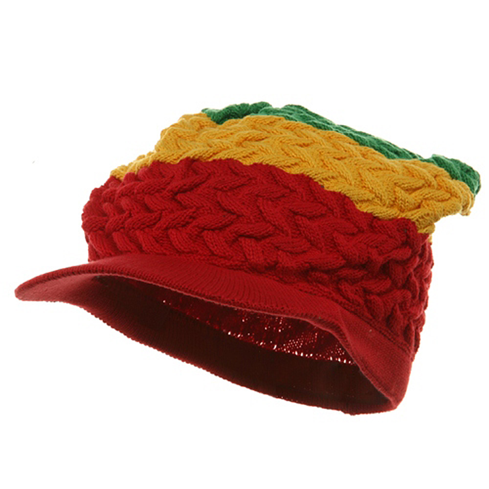 Wave Rasta Beanies Visor-Yellow Green - Hats and Caps Online Shop - Hip Head Gear