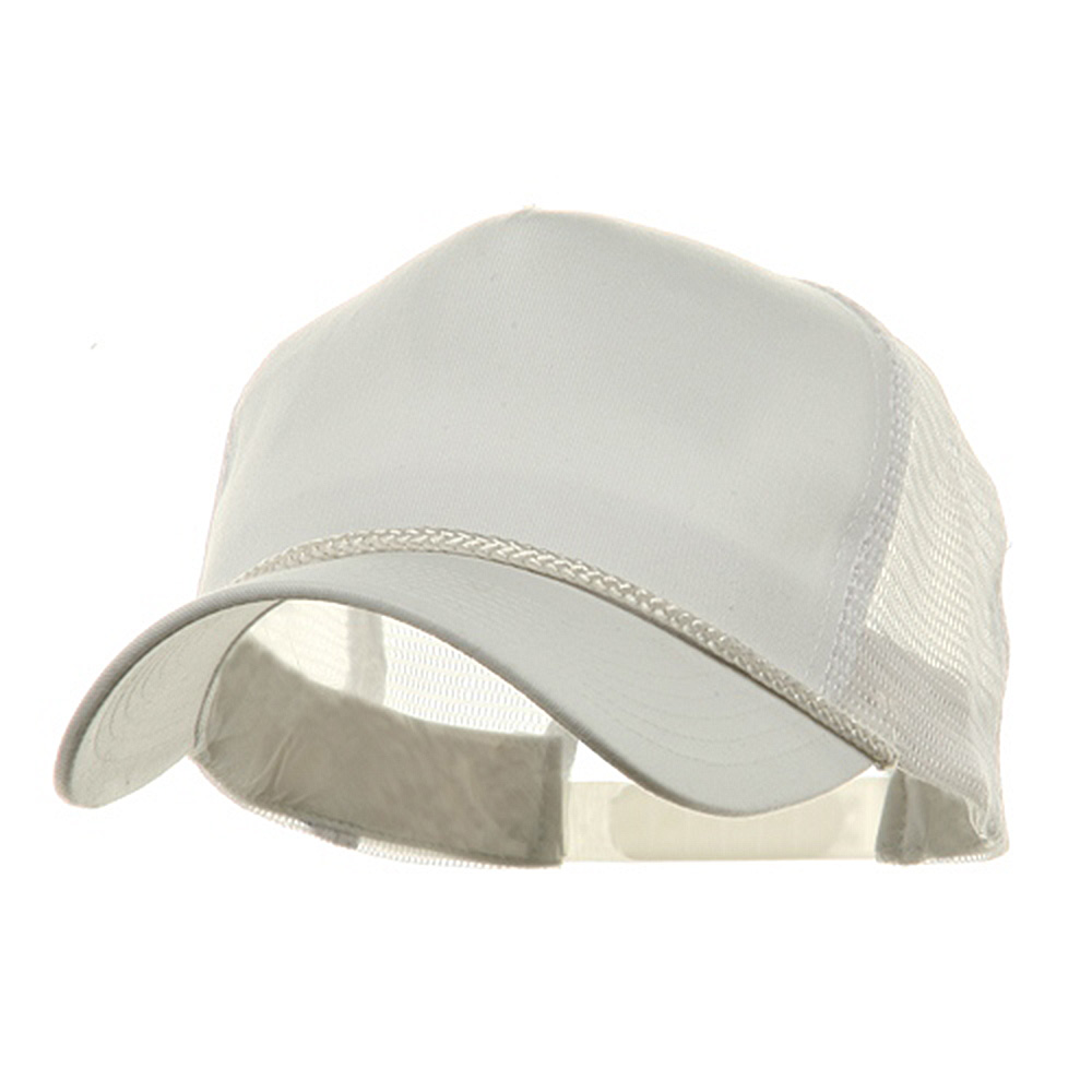 5 Panel Pro Style Twill Mesh Cap - White - Hats and Caps Online Shop - Hip Head Gear