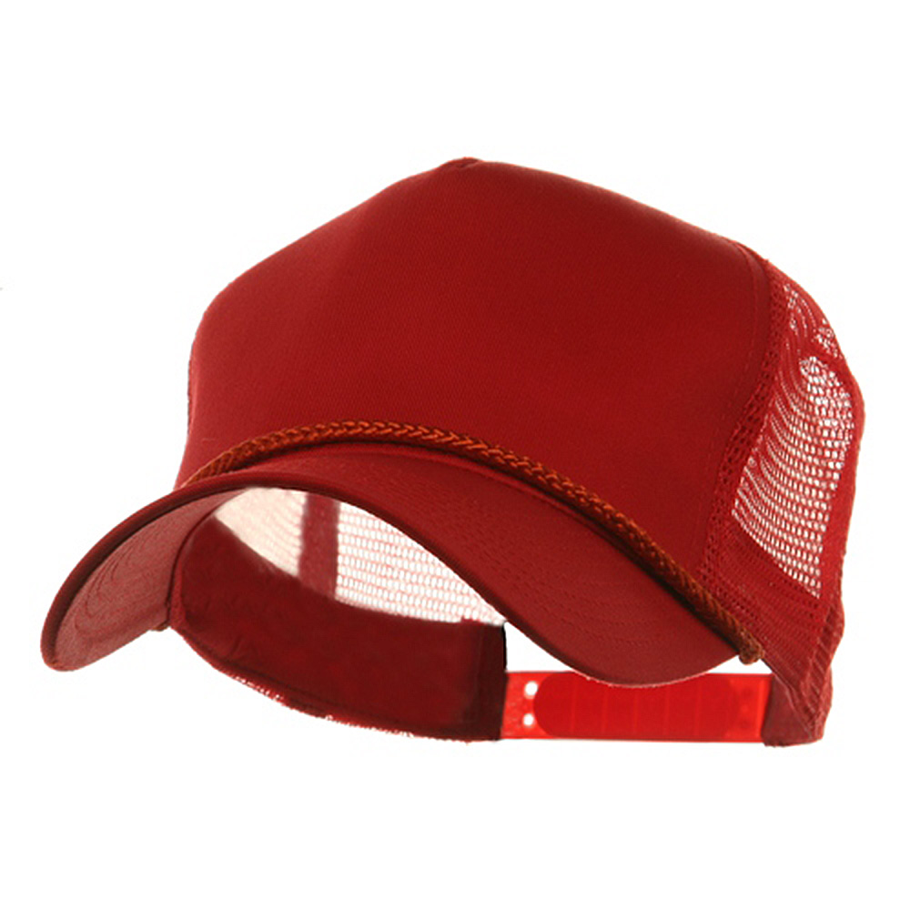 5 Panel Pro Style Twill Mesh Cap - Red - Hats and Caps Online Shop - Hip Head Gear