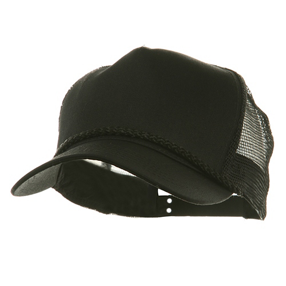 5 Panel Pro Style Twill Mesh Cap - Black - Hats and Caps Online Shop - Hip Head Gear