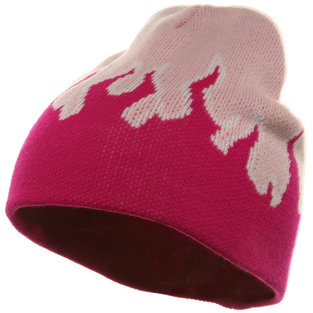 Flame Beanie-Pink Hot Pink - Hats and Caps Online Shop - Hip Head Gear