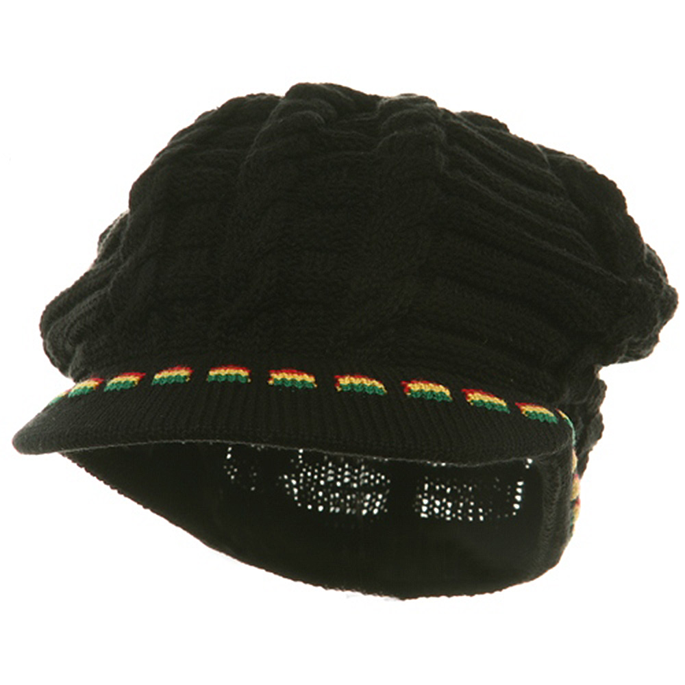 Rasta Beanies Visors (03)-Red Yellow Green - Hats and Caps Online Shop - Hip Head Gear
