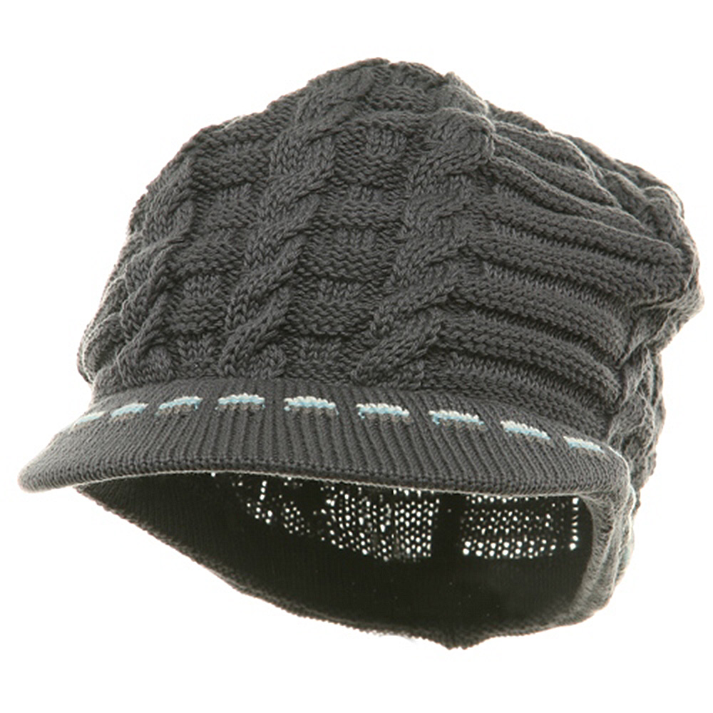 Rasta Beanies Visors (03)-White Sky Grey - Hats and Caps Online Shop - Hip Head Gear