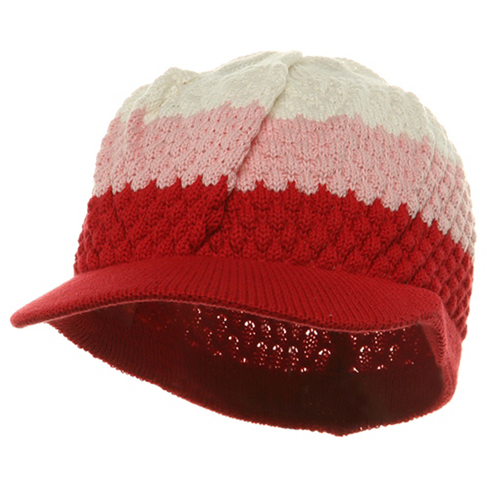 Rasta Beanies Visors (05)-Red Pink White - Hats and Caps Online Shop - Hip Head Gear