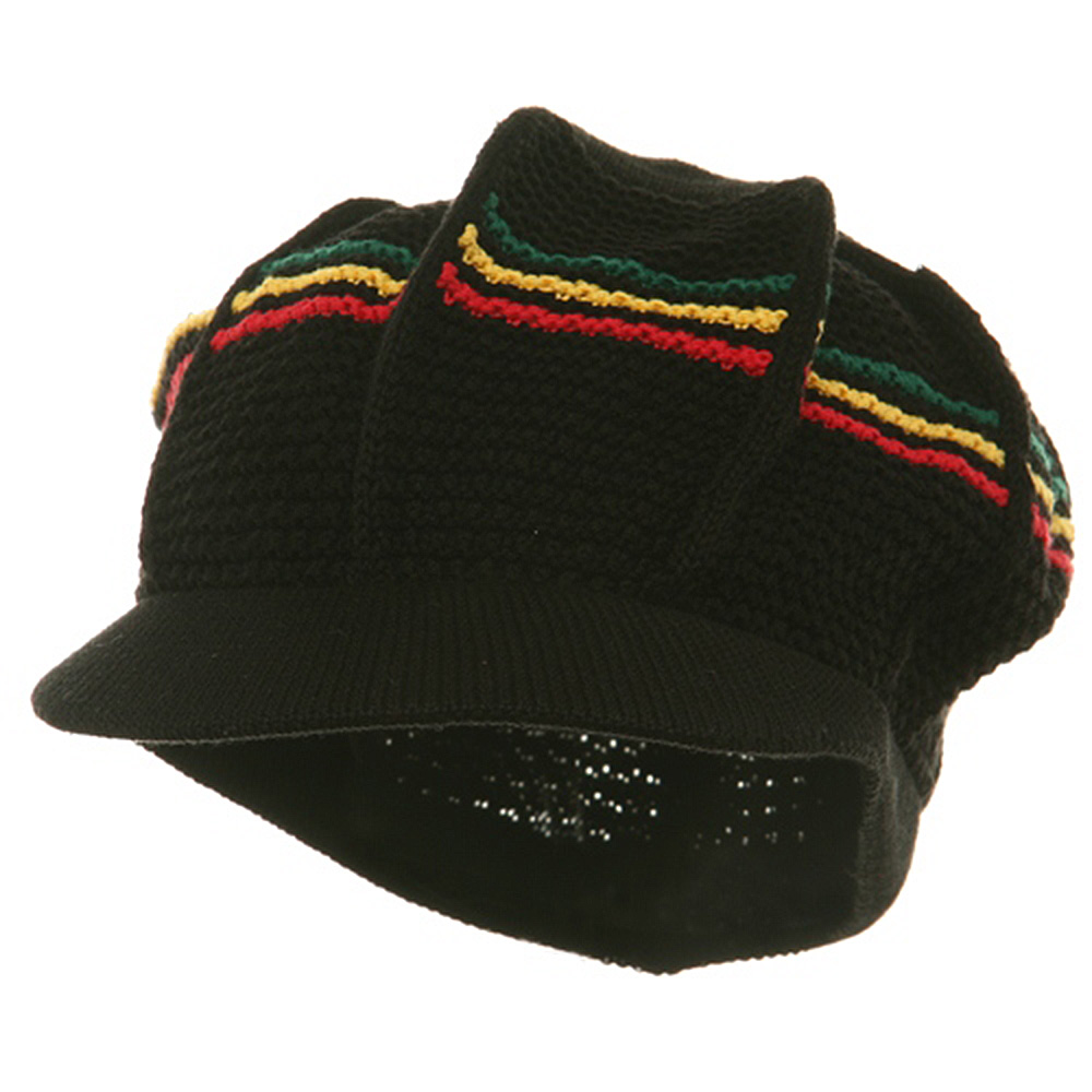 New Rasta Cool Running Hat-Black RGY - Hats and Caps Online Shop - Hip Head Gear