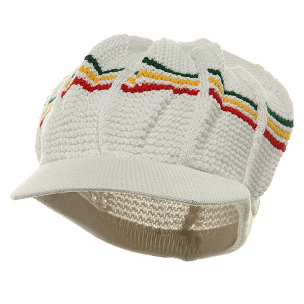 New Rasta Cool Running Hat-White RGY - Hats and Caps Online Shop - Hip Head Gear