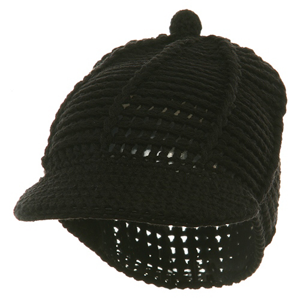 Reggae Knitted Cap - Black - Hats and Caps Online Shop - Hip Head Gear