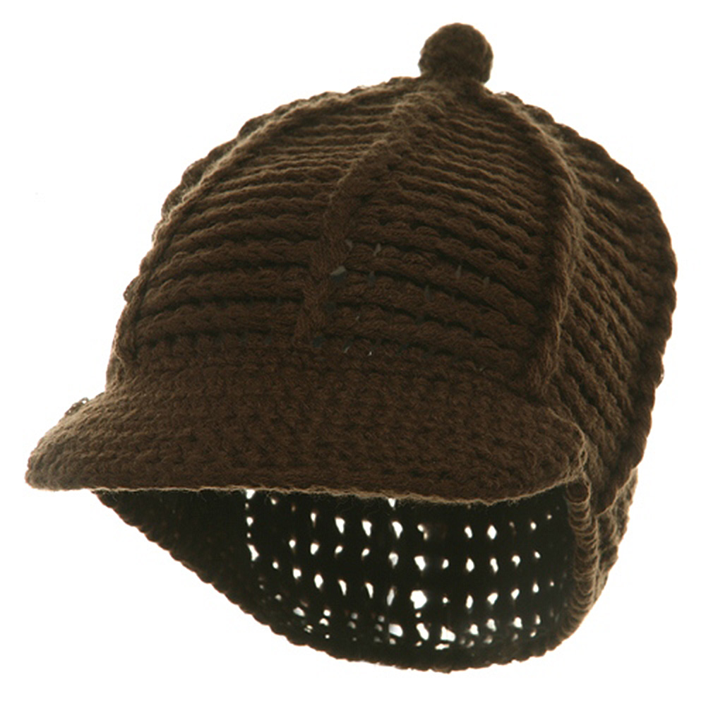 Reggae Knitted Cap - Brown - Hats and Caps Online Shop - Hip Head Gear
