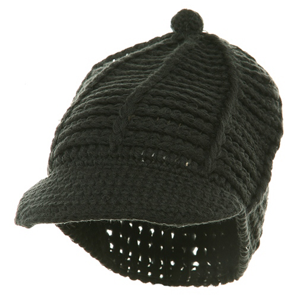 Reggae Knitted Cap - Charcoal - Hats and Caps Online Shop - Hip Head Gear