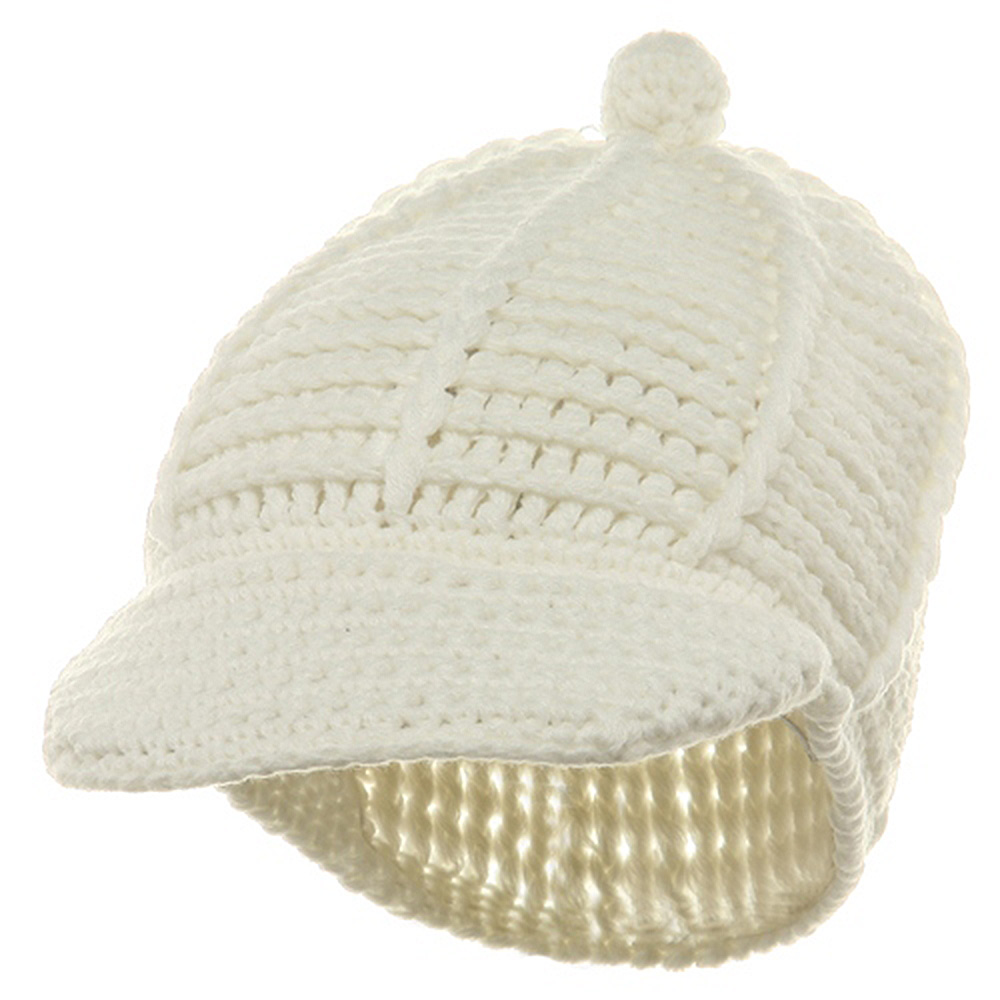 Reggae Knitted Cap - White - Hats and Caps Online Shop - Hip Head Gear