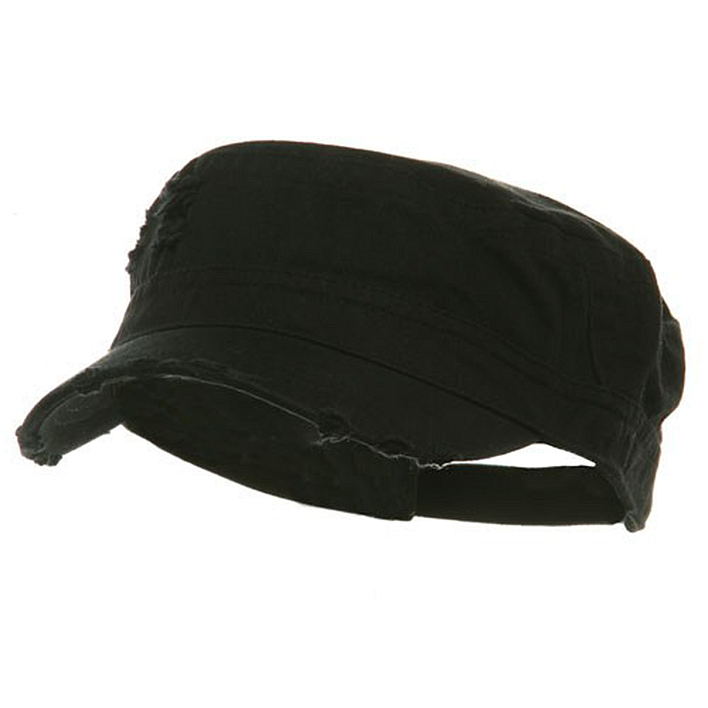 Adjustable Herringbone Army Cap - Black - Hats and Caps Online Shop - Hip Head Gear