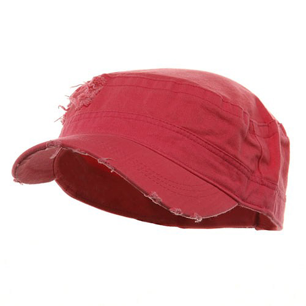 Adjustable Herringbone Army Cap - Fuchsia - Hats and Caps Online Shop - Hip Head Gear
