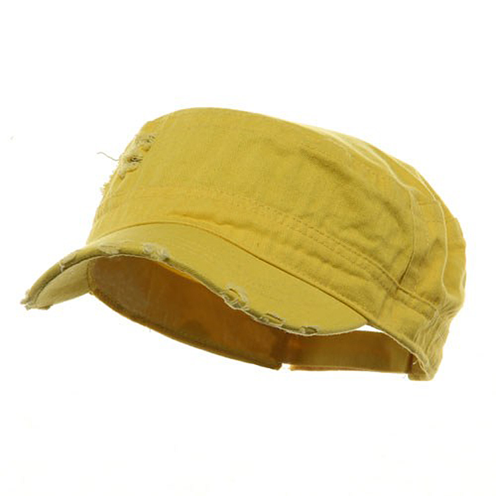 Adjustable Herringbone Army Cap - Yellow - Hats and Caps Online Shop - Hip Head Gear