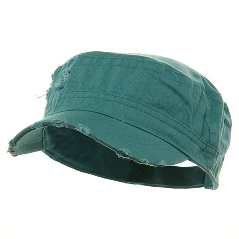 Adjustable Herringbone Army Cap - Turquoise - Hats and Caps Online Shop - Hip Head Gear