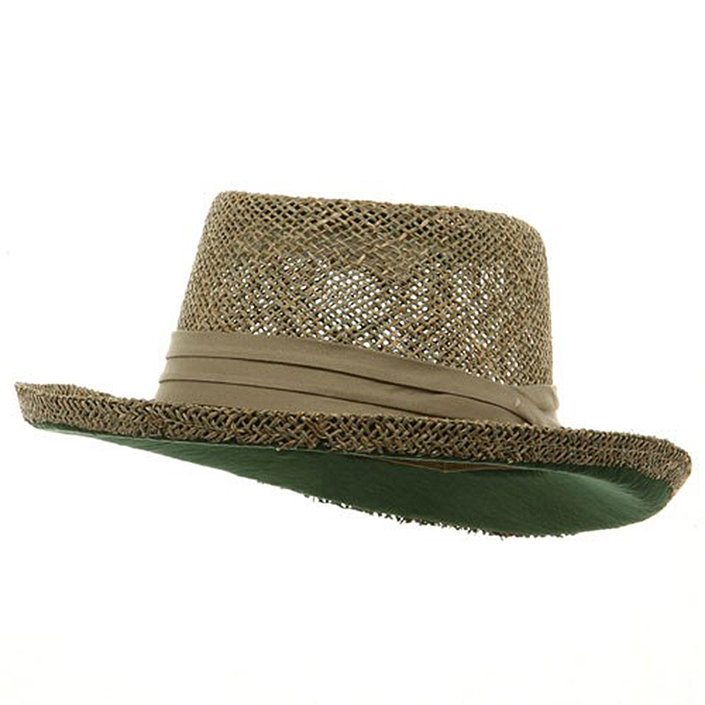 Big Gambler Straw Hat - Khaki Band - Hats and Caps Online Shop - Hip Head Gear