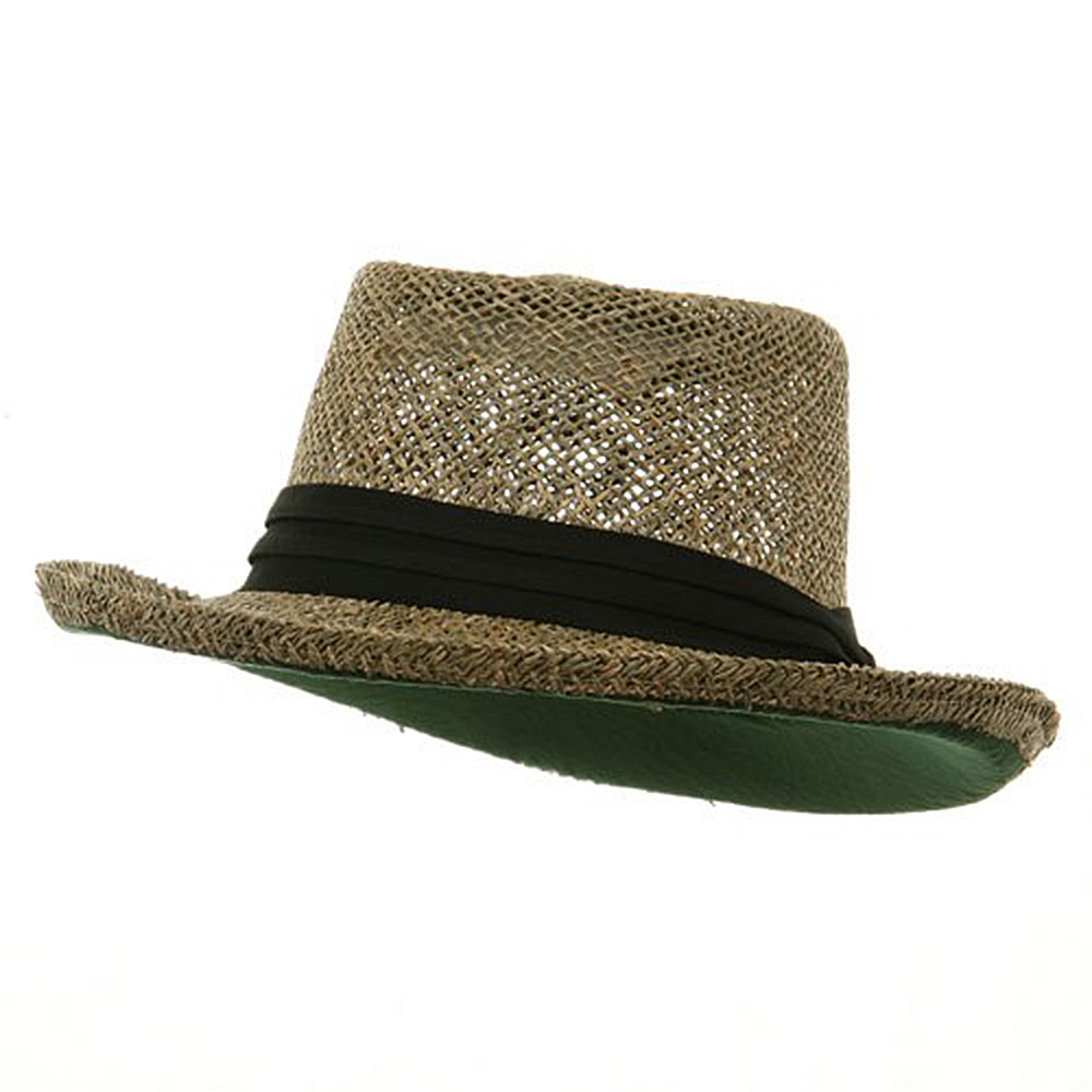 Big Gambler Straw Hat - Black Band - Hats and Caps Online Shop - Hip Head Gear