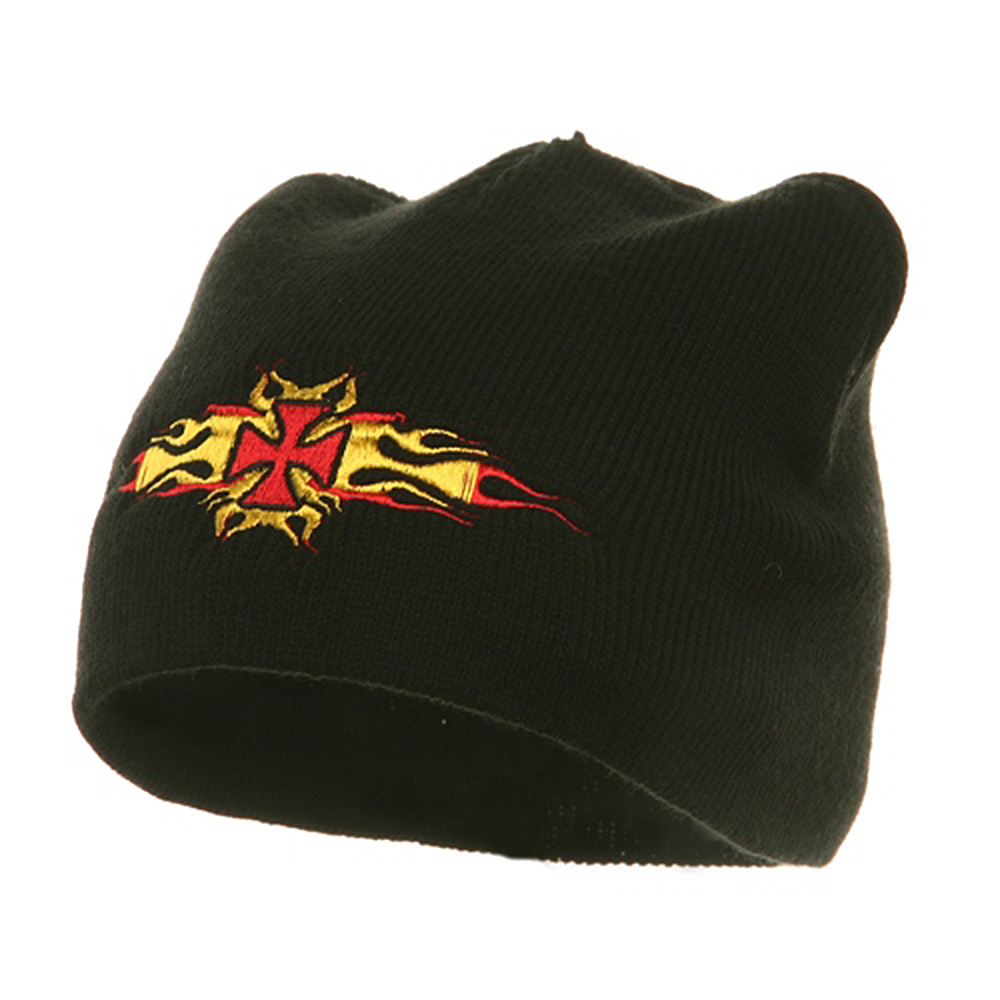 Biker Beanie-Chopper And Flame - Hats and Caps Online Shop - Hip Head Gear