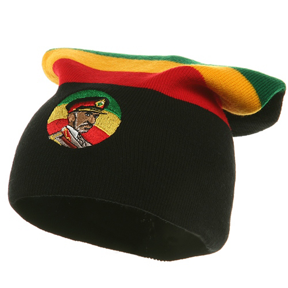 Embroidered Rasta Long Beanie - King Selassie - Hats and Caps Online Shop - Hip Head Gear