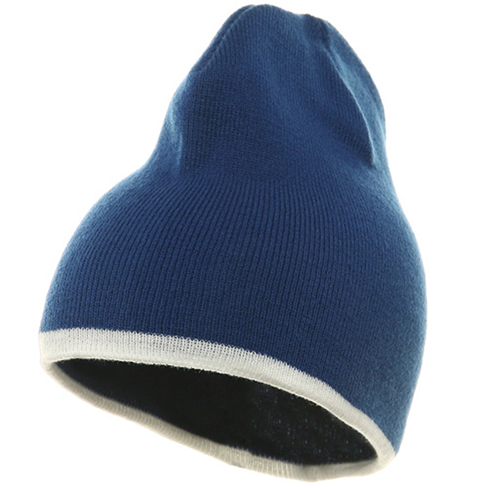 Short Trim Beanie-Royal White - Hats and Caps Online Shop - Hip Head Gear