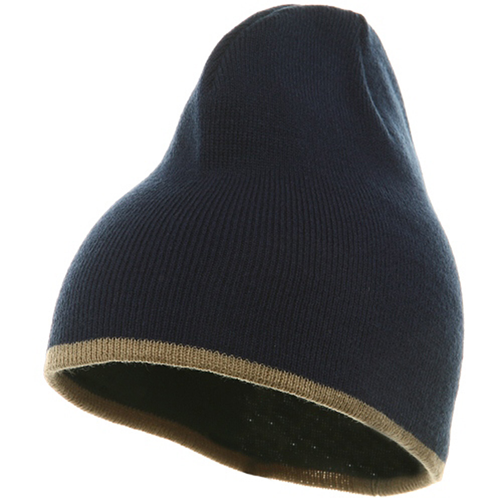 Short Trim Beanie-Navy Khaki - Hats and Caps Online Shop - Hip Head Gear