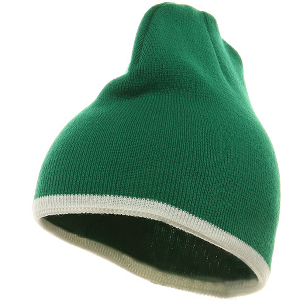 Short Trim Beanie-Kelly White - Hats and Caps Online Shop - Hip Head Gear