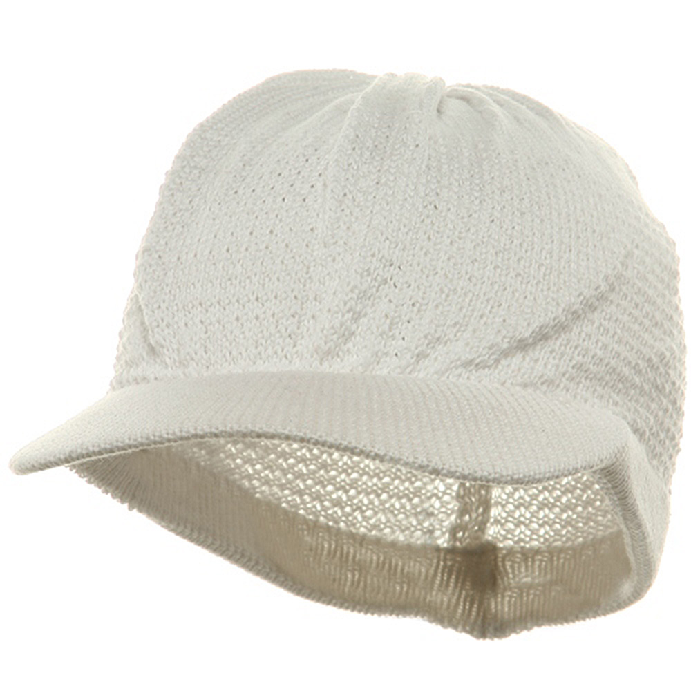 Cool Running Beanie Visor-White - Hats and Caps Online Shop - Hip Head Gear