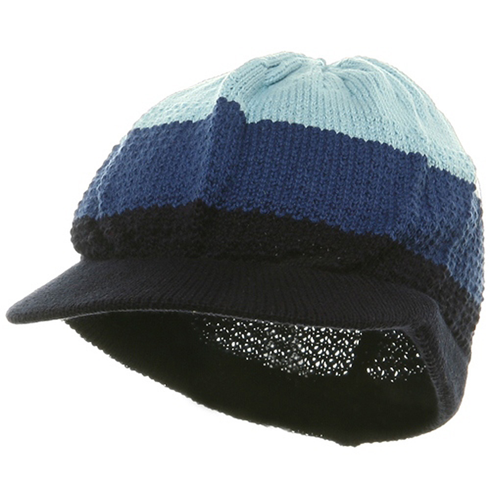 Cool Running Rasta Beanie Visor-Blue Navy